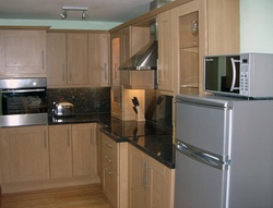 Fully equipped self catering kitchen in the Old Oil House , Boscastle